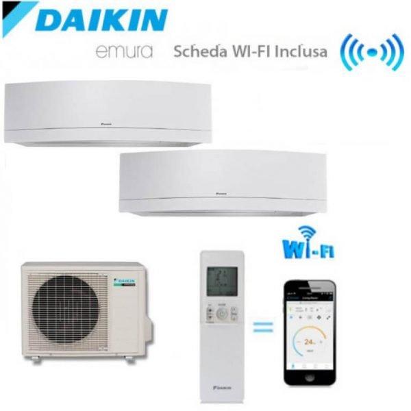 Climatizzatore/Condizionatore Daikin Dualsplit Parete  2MXS50H + FTXG25LW + FTXG35LW 2