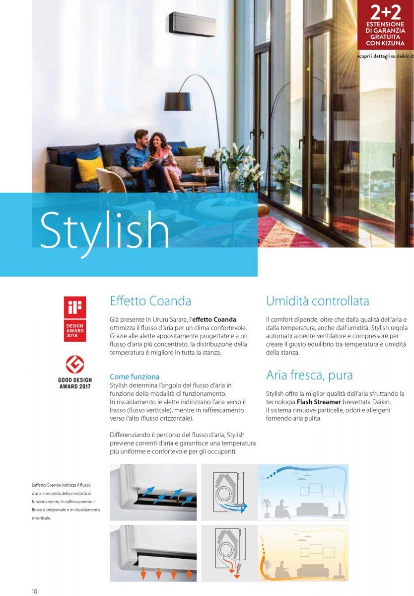 Climatizzatore/Condizionatore Daikin  Monosplit Parete  Stylish Inverter 18000 btu White FTXA50AW/RXA50A 2