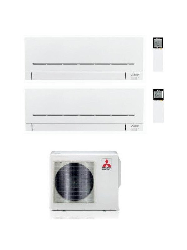 Climatizzatore/Condizionatore Mitsubishi Electric Dualsplit Parete LINEA PLUS  7000 BTU MXZ-2F53VF + MSZ-AP20VF+MSZ-AP25VG 2