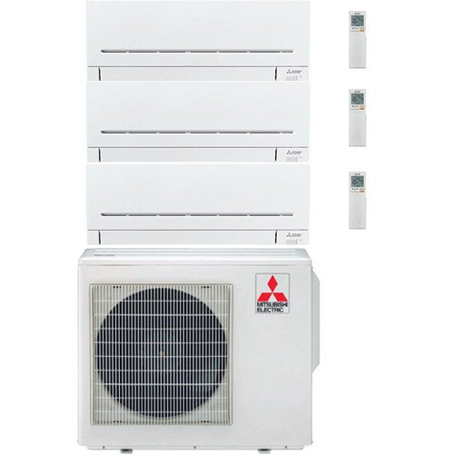 Climatizzatore/Condizionatore Mitsubishi Electric Multisplit Trial Parete LINEA PLUS 12000 BTU MXZ-3F68VF + MSZ-AP25VG+MSZ-AP25VG+MSZ-AP35VG 2